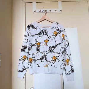 Peanuts White Snoopy and Woodstock Sweatshirt